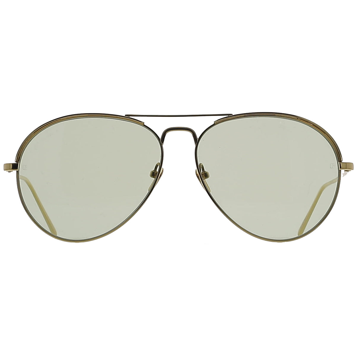Linda Farrow Luxe LFL594 C5 Sun Yellow Gold/ Light Green