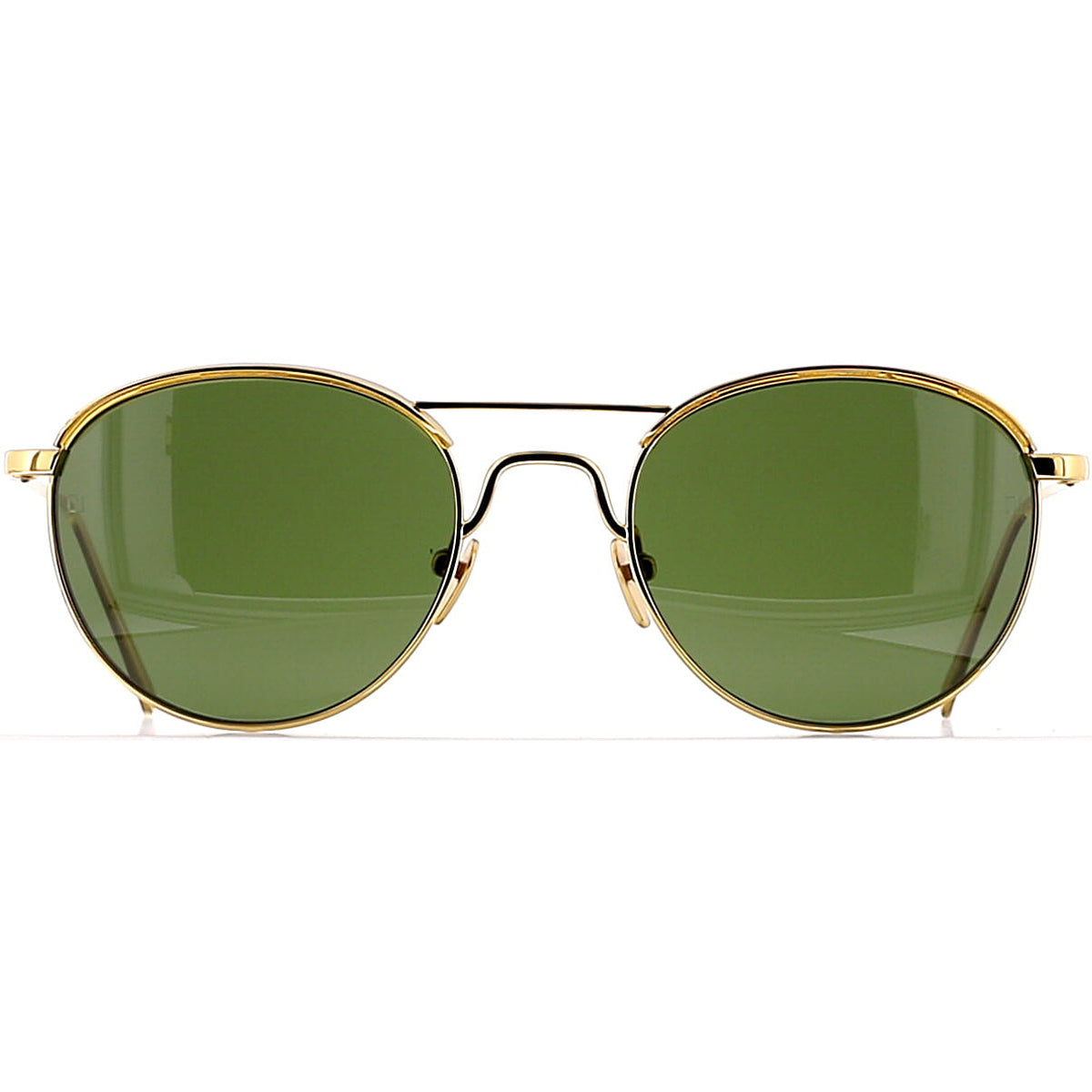 Linda Farrow Luxe LFL623 C5 Sun Yellow Gold/ Dark Green