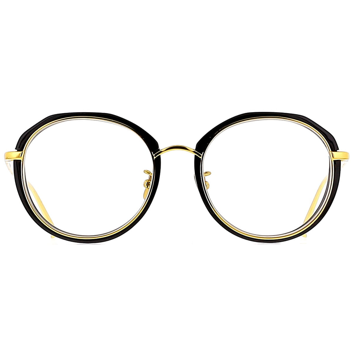 Linda Farrow Luxe LFL630 C1 Optical Black/ Yellow Gold