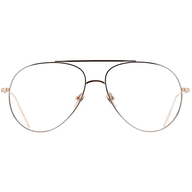 Linda Farrow Luxe LFL666 C9 Optical Ayala Rose Gold/ White Gold