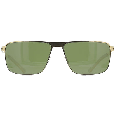 Mykita Greyson 013 Glossy Gold / MY+ Fern (Polarized)