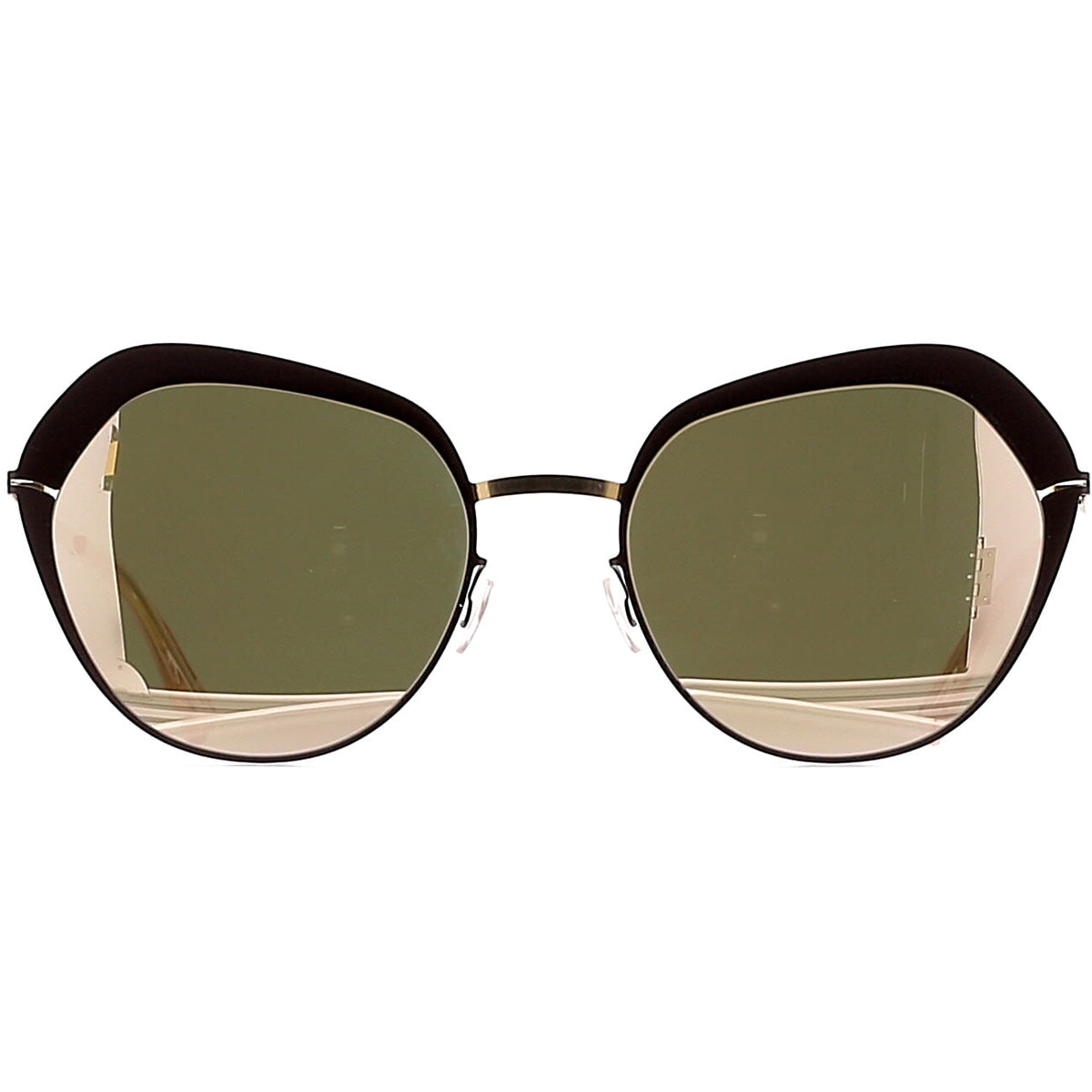 Mykita Mette 285 Champagne Gold / Dark Brown