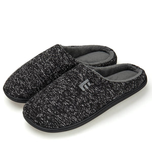 EAST LANDER Men's Memory Foam House Slippers Soft Sole Anti-Slip Slippers Indoor Shoes