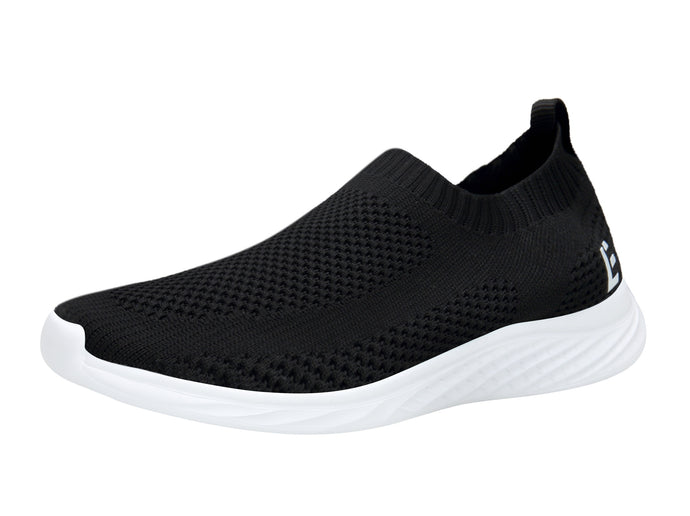 EAST LANDER Walking Shoes for Men and Women Slip-on Sneakers Flyknit Light Athletic Shoes