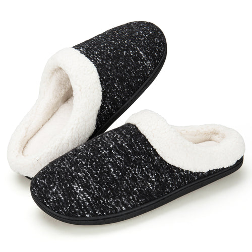 EAST LANDER Men's Memory Foam House Slippers Washable Anti-Slip Slippers Indoor Shoes