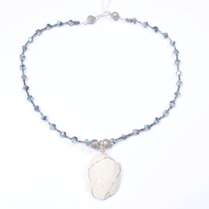 Small Seashell Beaded Necklace