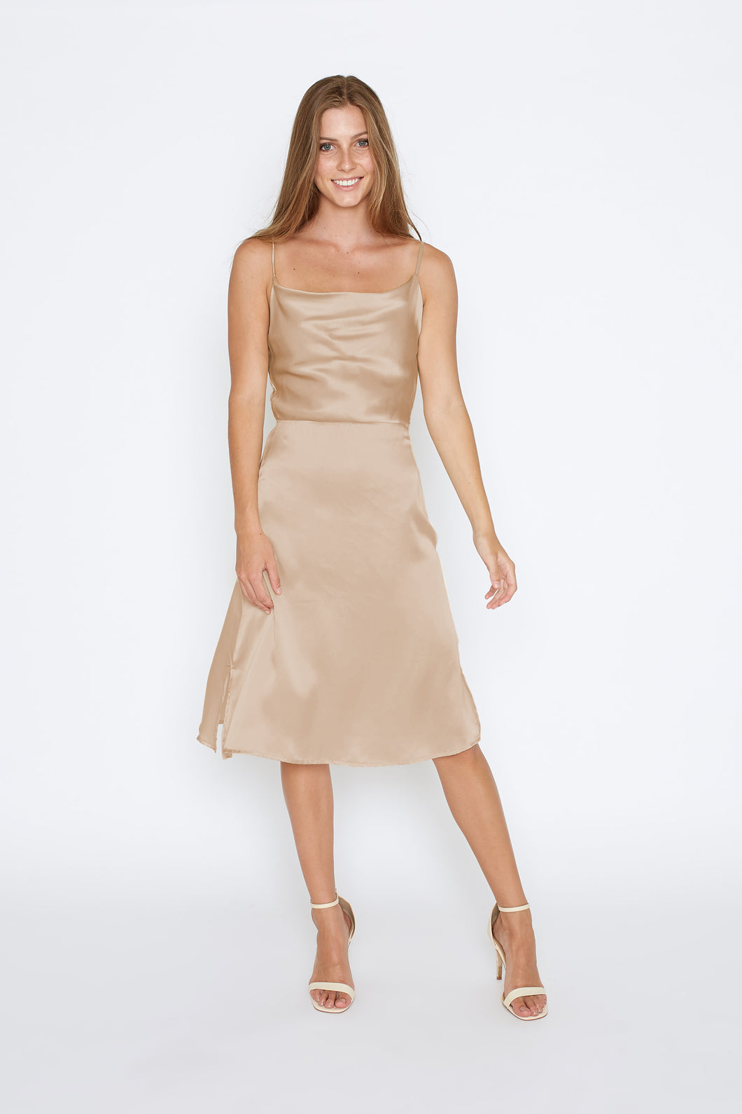 Amy Dress - Beige - Size 8