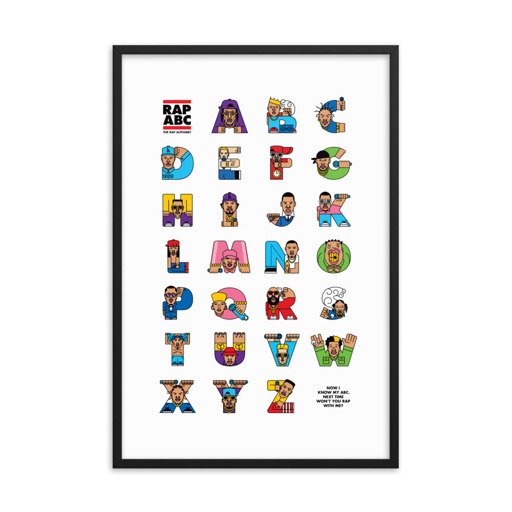 Rap ABC Framed Poster (Inches) - The Andy $hop