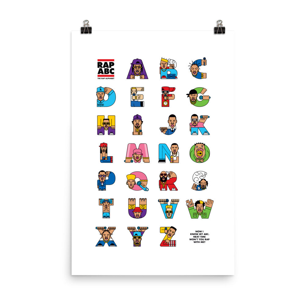 Rap ABC Poster (Inches) - The Andy Shop