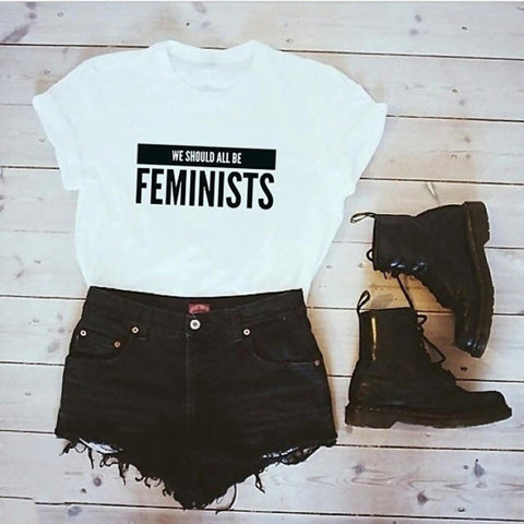 We Should All Be Feminists Women Cotton Tee - Mystic Sugar