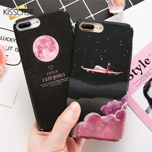 Luxury Pink Starry Night Matte Case For iPhone - Mystic Sugar