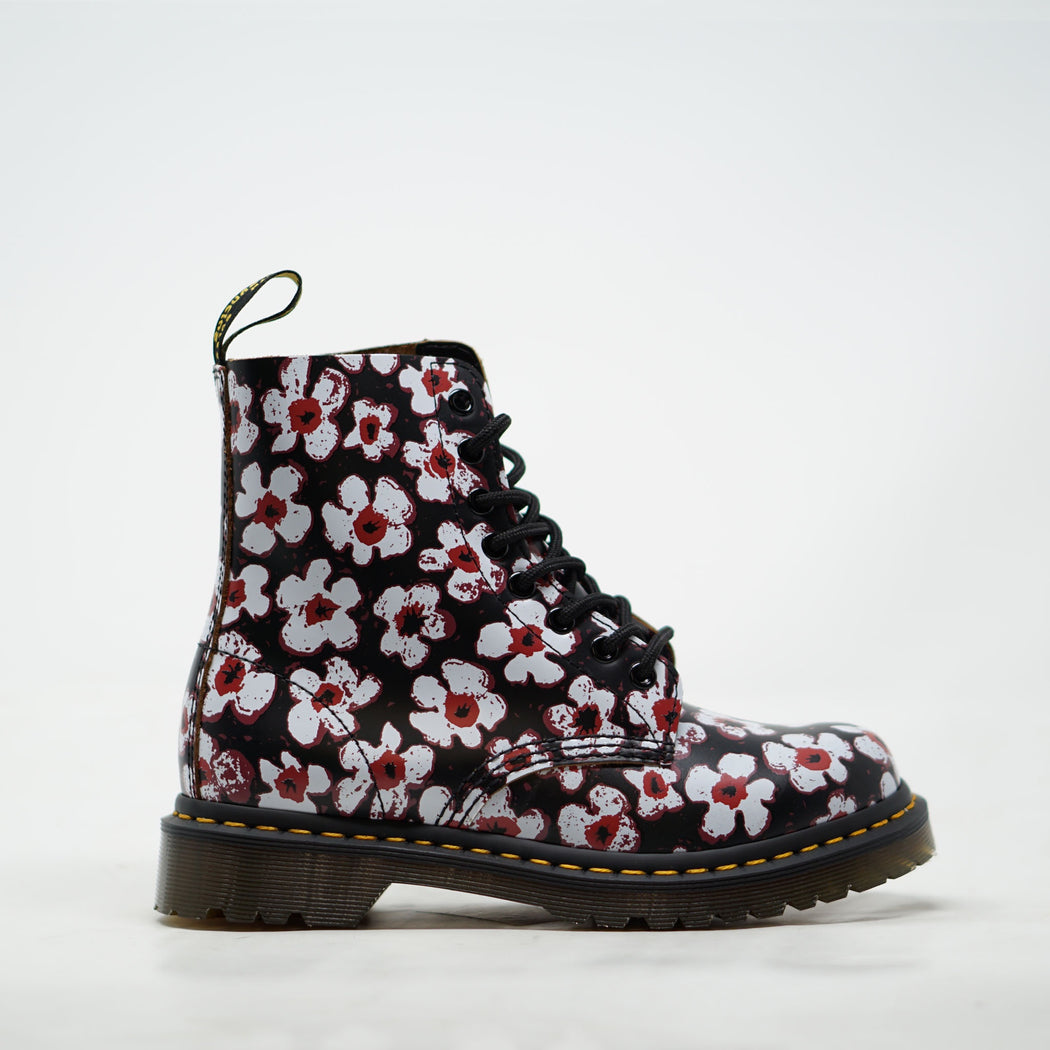 Dr Marten Pascal Black Red Pansy Fayre