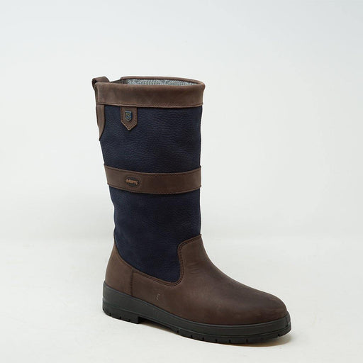 Dubarry Kildare Calf Boot Navy/Brown - ZIGZAG Footwear