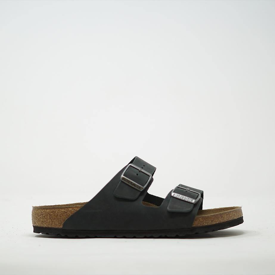 Birkenstock Arizona Oiled Black Leather Mens - ZIGZAG Footwear