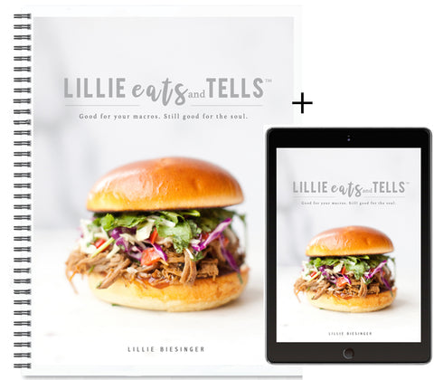 Lillie Eats and Tells Cookbook-- Hard Copy with Free Digital Download