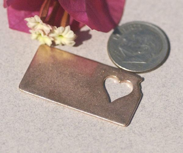 Kansas State Cutout Heart Blanks Variety of Metals