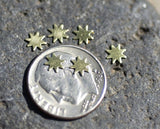 Buy Tiny metal Stars 5mm, Sun or star blanks online