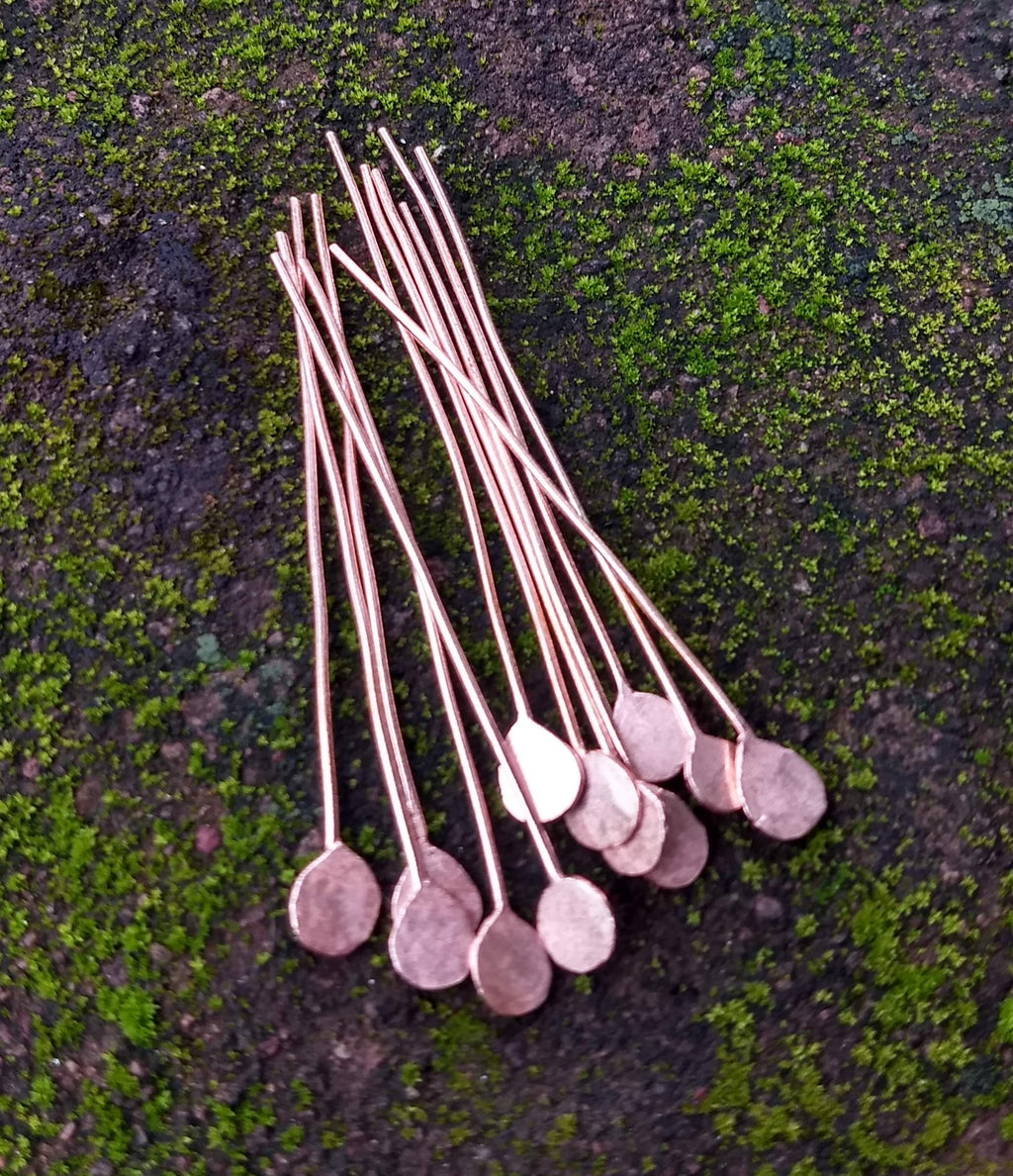 Handmade Headpins with Round Flat Paddle