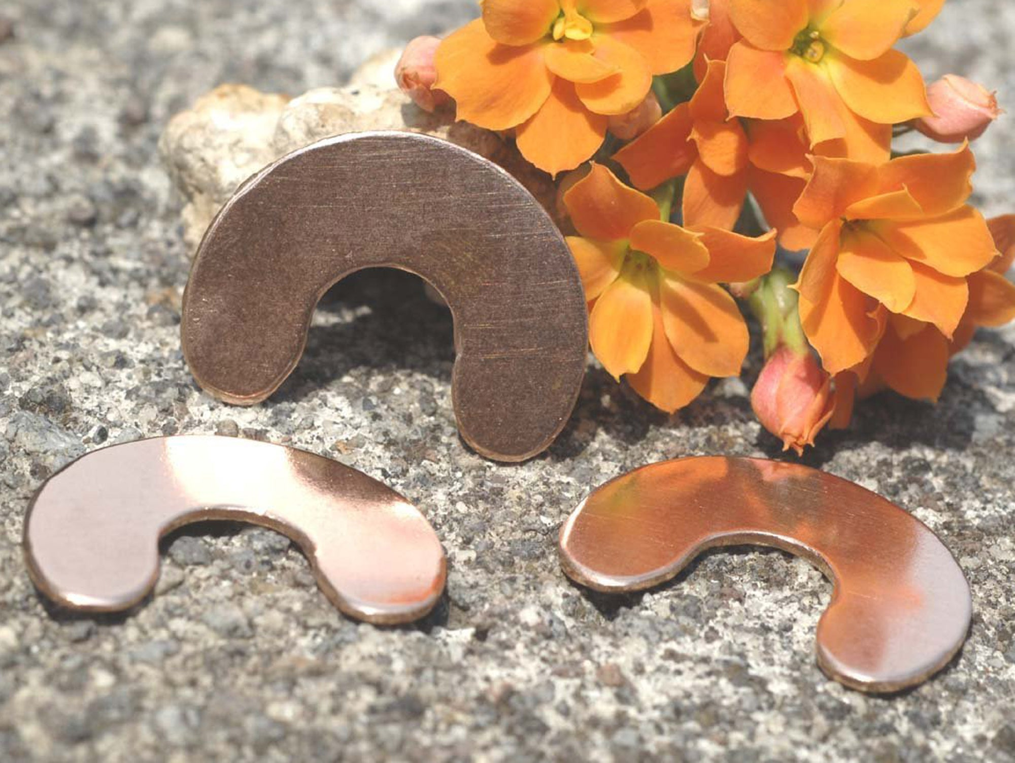 Buy Copper U Blanks 25mm for Enameling Stamping Texturing Soldering Shape Charms Jewelry Making - 6 pieces online