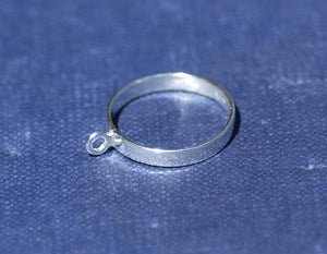 Sterling Silver Ring Blank - Beadable Ring