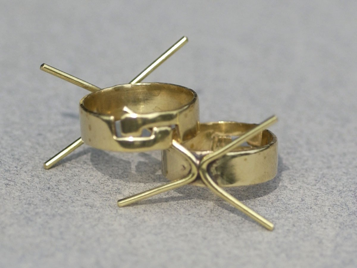 Adjustable Claw Ring for Setting Natural Stones - 4 prongs