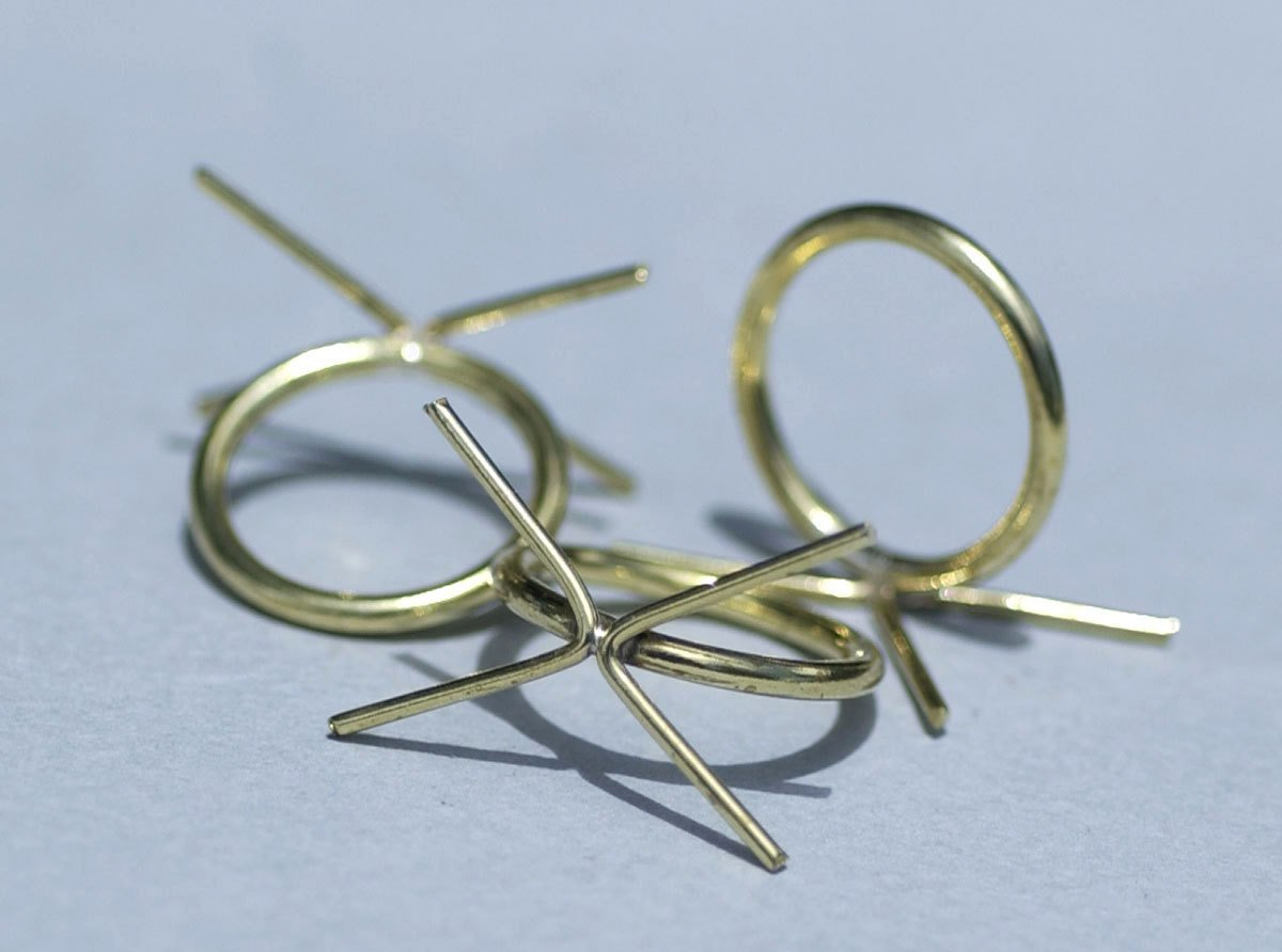 Handmade Claw Ring Setting For Natural Stones, Round shank, 4 prongs