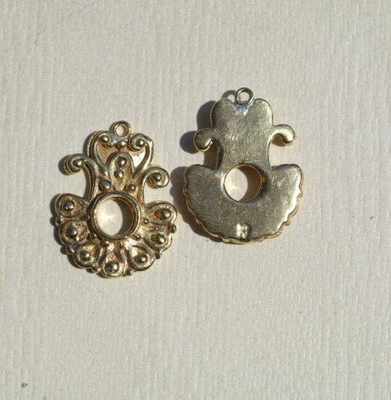 Cast Bronze Ornate Bali Style Charm