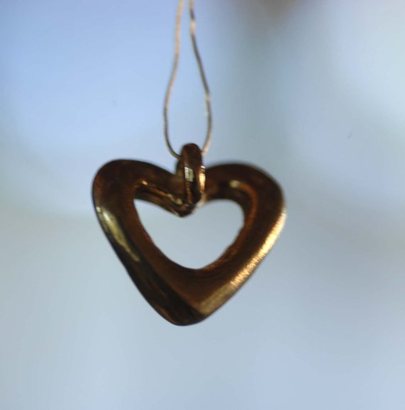 Buy Cast Bronze Puffy Heart Charm online