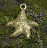 Cast Bronze Starfish Charm #1