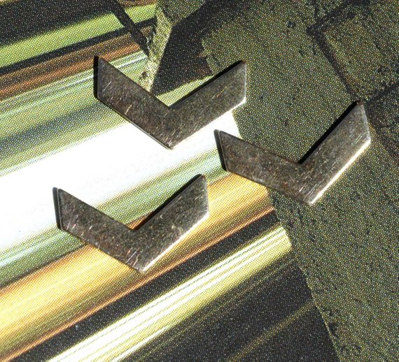 Buy Tiny metal Chevron blanks online
