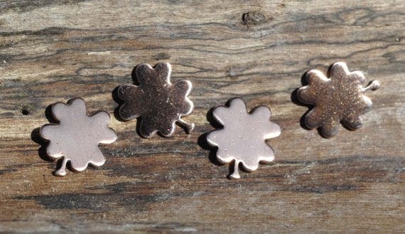 Tiny metal Four Leaf Clover Blanks