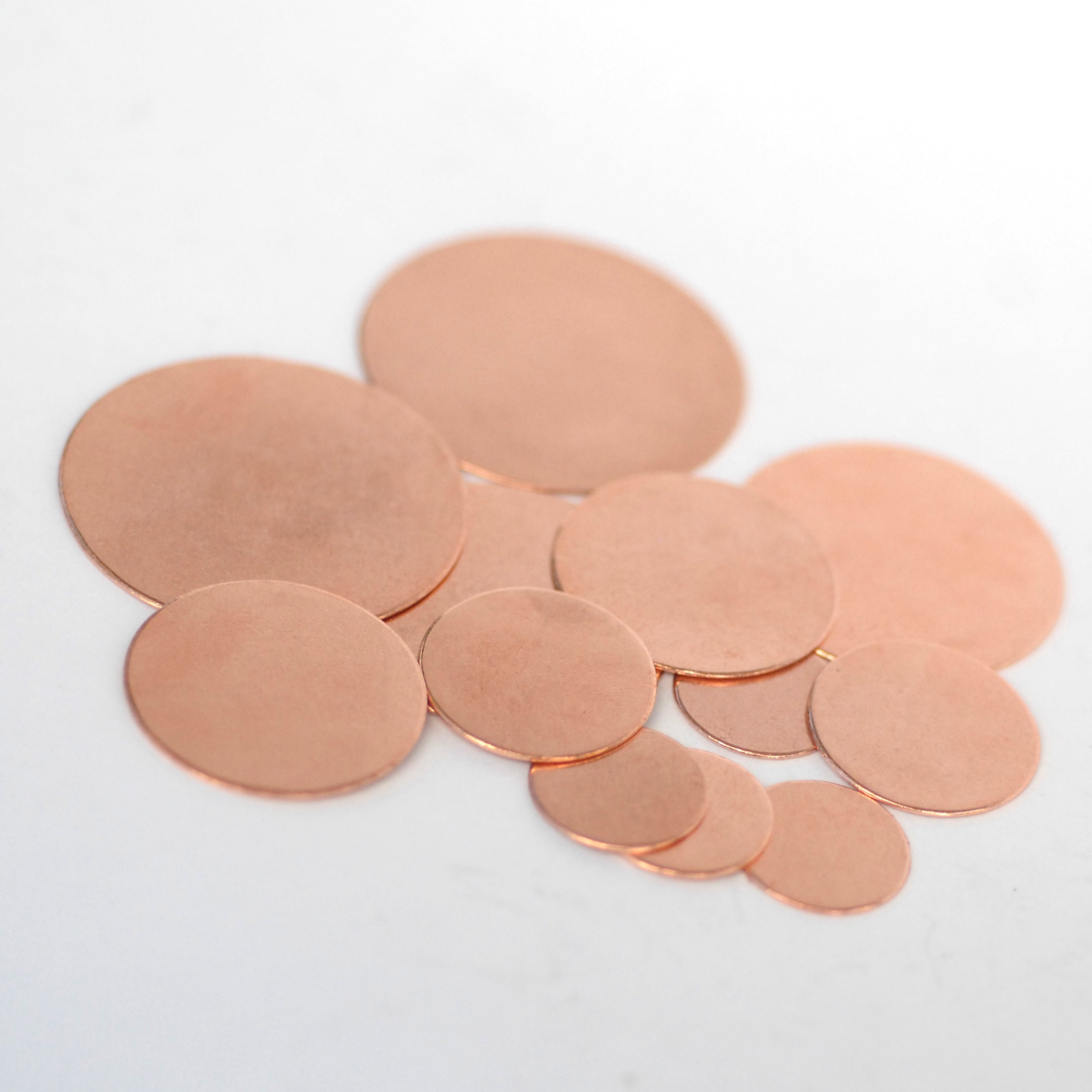22mm Disc Blank 22G Cutout, Enameling Stamping Texturing Blanks - Jewelry Supplies - 8 Pieces