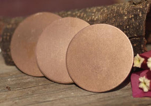 Copper Disc, Flat deburred disks