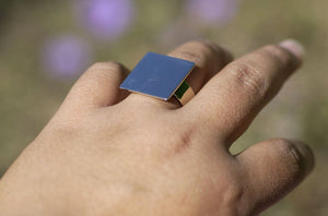 Handmade Plain Ring with Square Glue Pad - 20mm DIY Ring