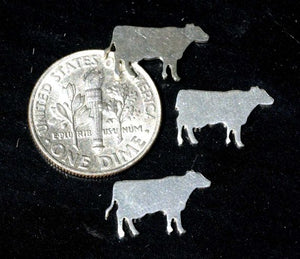 Tiny metal Cow blanks