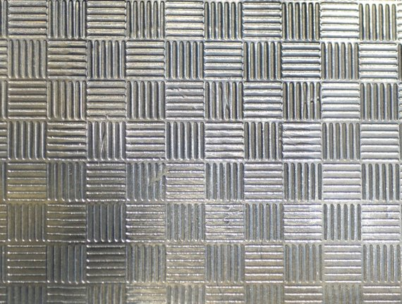 Criss Cross Textured Sheet Metal