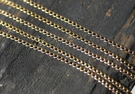Bronze Curb Chain - Soldered