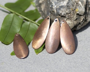 Buy Curved Teardrop Metal Blank for Layered Pendants, or Earrings - DIY Jewelry Supplies by SupplyDiva - With Hole online