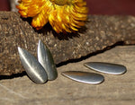 Curved Teardrop Metal Blank for Layered Pendants, or Earrings
