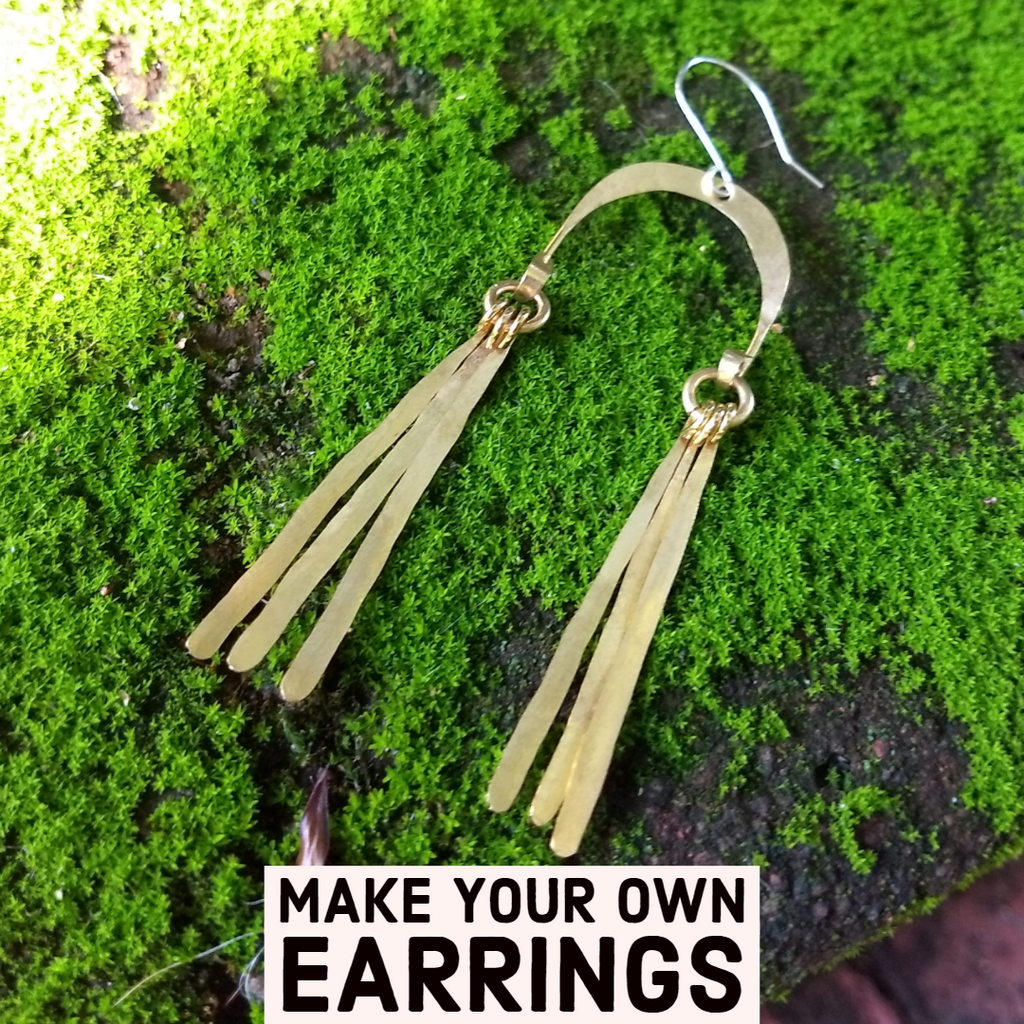Buy Long U Shaped Earring Kit - Long Hammered Charms online