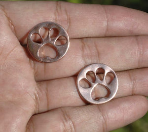 Dog Tag Blanks with doggy paw cutouts