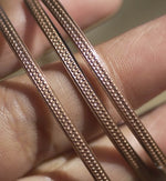 Bracelet or Ring Stock - Rows of tiny dots - 2.6mm x 1mm