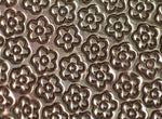 Rows of Flowers Textured Sheet Metal