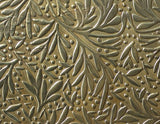 leaf pattern textured sheet metal in brass