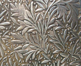leaf pattern textured sheet metal in nickel silver