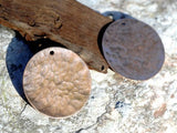 Hand Hammered Disc blank for layered pendants, or earrings - DIY Jewelry Supplies by SupplyDiva