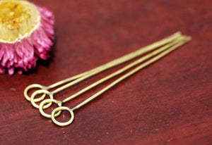 Handmade Headpins with Round Soldered Loop