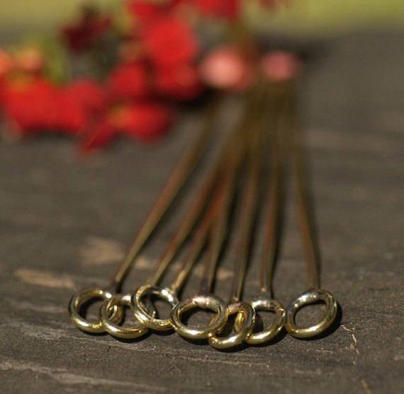 Handmade Headpins with Oval Soldered Loop