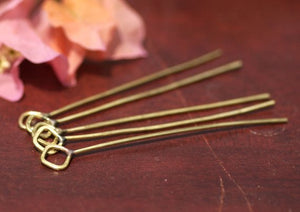 Handmade Headpins with Square Soldered Loop