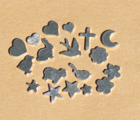 Set of Tiny Shapes, Hearts, Stars, and Animals